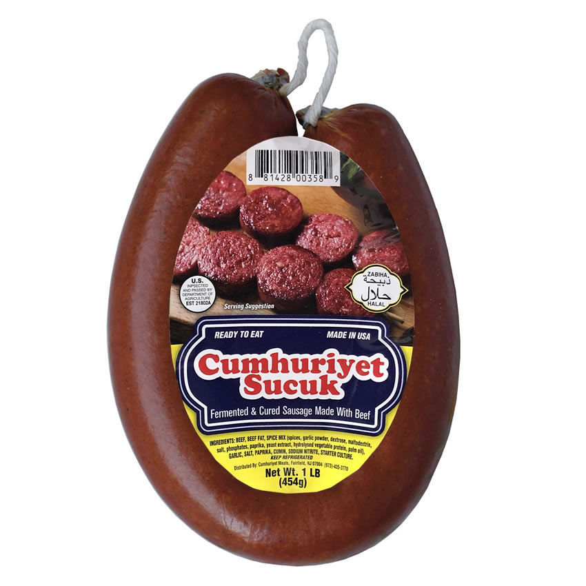 Picture of CUMHURIYET Sucuk (Dried Beef Sausage) 1lb