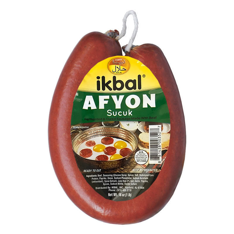 Picture of IKBAL Afyon Sucuk (Dried Beef Sausage) 1lb