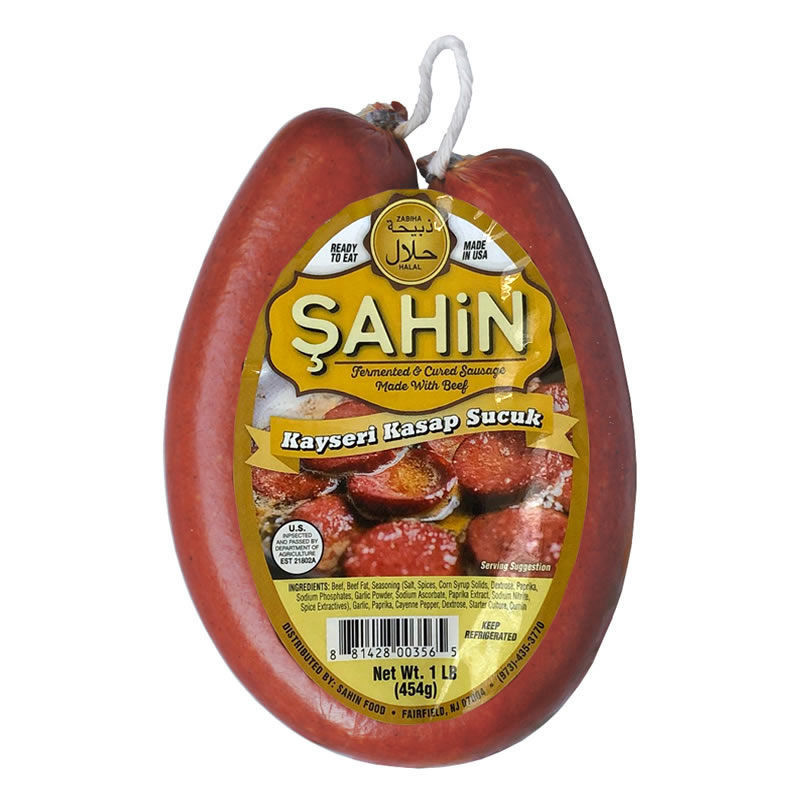 Picture of SAHIN Kayseri Sucuk (Dried Beef Sausage) 1lb