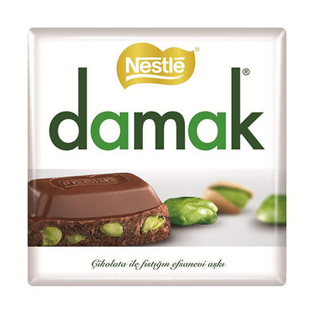 Picture of DAMAK Milk Chocolate w/ Pistachios 65g