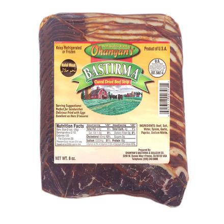 Picture of OHANYAN's Sliced Pastirma (Fatty) 8oz