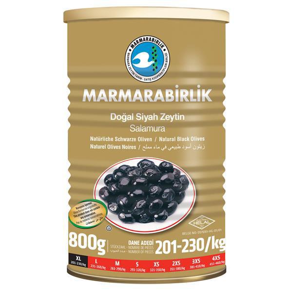 Picture of MARMARABIRLIK Black Olives XL 800g