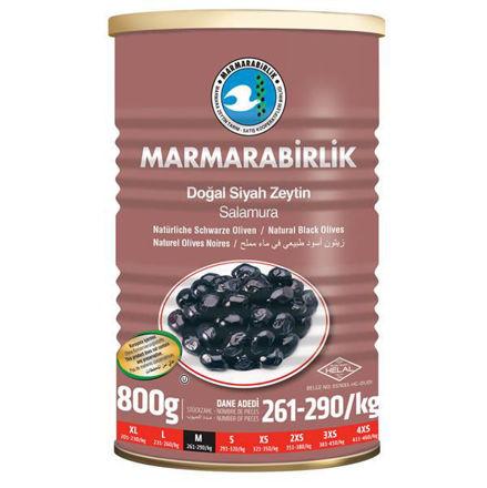 Picture of MARMARABIRLIK Black Olives M 800g