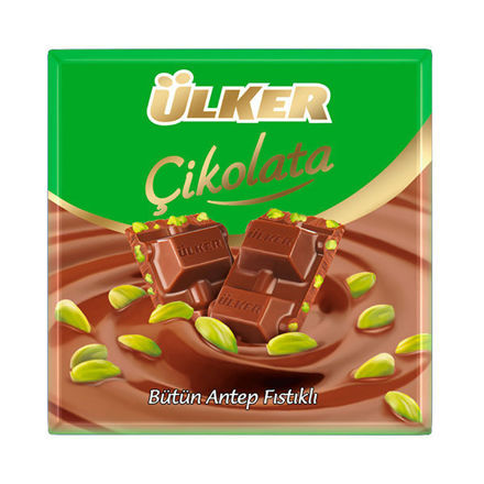 Picture of ULKER Milk Chocolate w/ Pistachios 70g