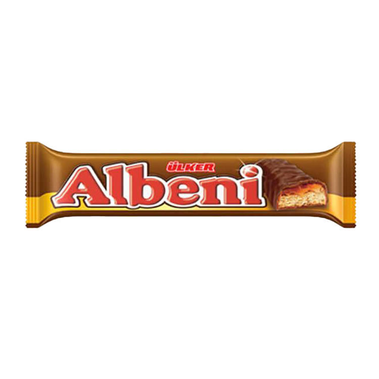 Picture of ULKER Albeni Chocolate Covered Biscuits w/ Caramel 40g