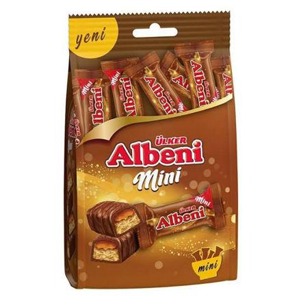 ALBENI Cikolata Kaplamali Karamelli Mini Biskuvi 89g resmi
