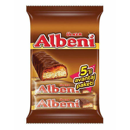 Picture of ULKER Albeni Chocolate Covered Biscuits w/ Caramel 180g