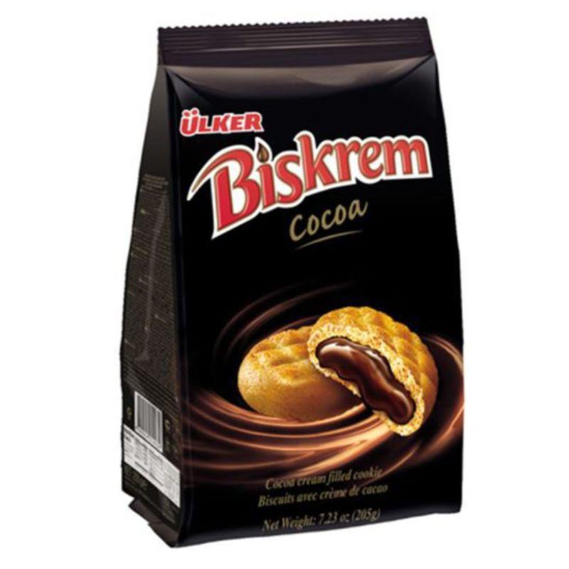 BISKREM Cikolata Dolgulu Biskuvi 205g resmi
