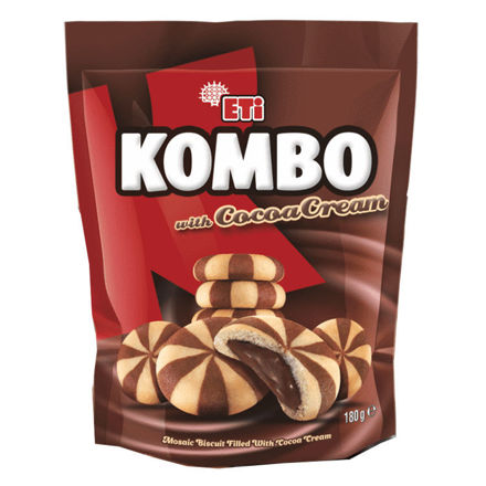 Picture of ETI Kombo Chocolate Filled Biscuits 180g