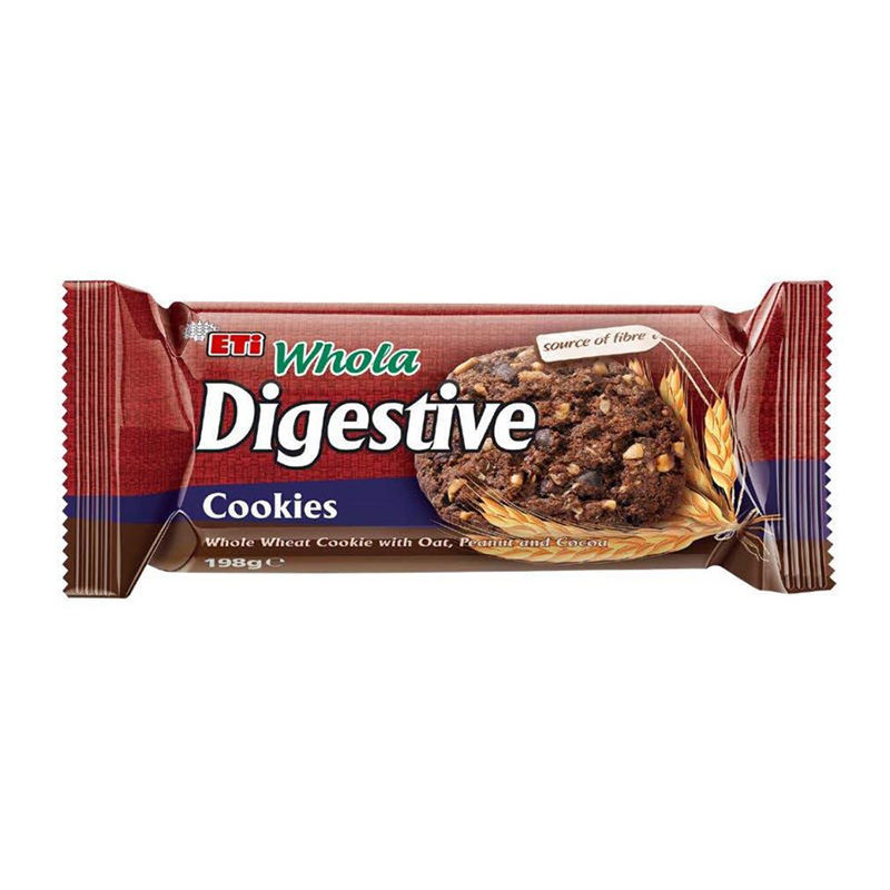 Picture of ETI Whola Digestive Cocoa Cookies w/ Peanuts 198g