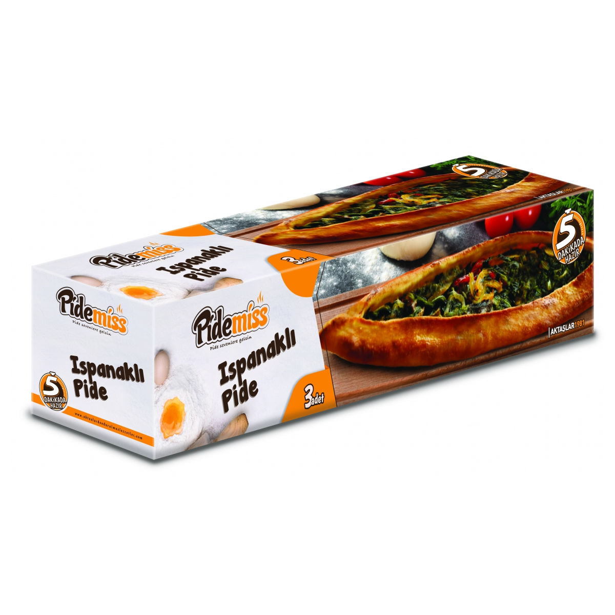 Picture of PIDEMISS Turkish Flatbread w/ Spinach 3 x 125g