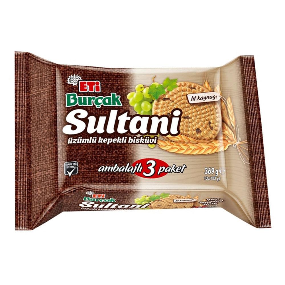 ETI Sultani Uzumlu Kepekli Biskuvi 390g resmi