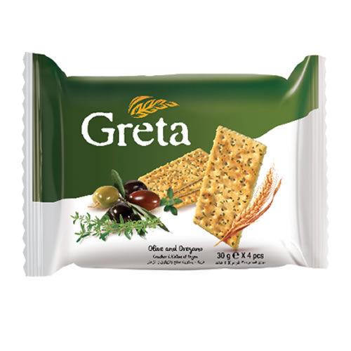 Picture of GRETA Oregano and Olive Oil Crackers 120g
