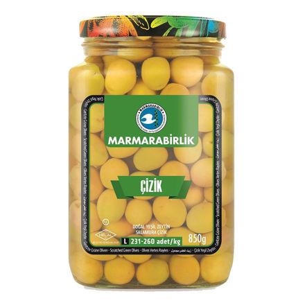 Picture of MARMARABIRLIK Scratched Green Olives L 850g