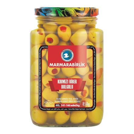 Picture of MARMARABIRLIK Pepper Stuffed Green Olives 4XL 850g