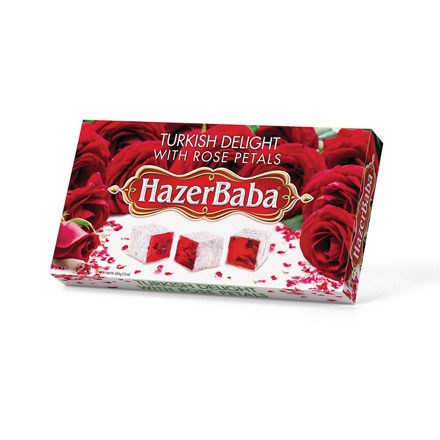 Picture of HAZERBABA Turkish Delight w/ Rose Petals 454g