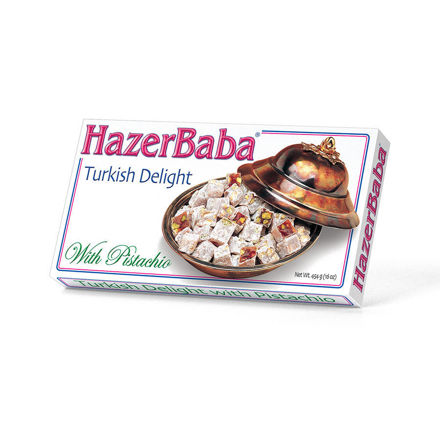 Picture of HAZERBABA Turkish Delight w/ Pistachios 454g