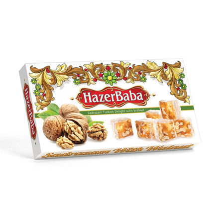 Picture of HAZERBABA Turkish Delight w/ Walnuts 454g