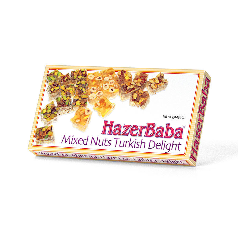 Picture of HAZERBABA Turkish Delight w/ Mixed Nuts 454g