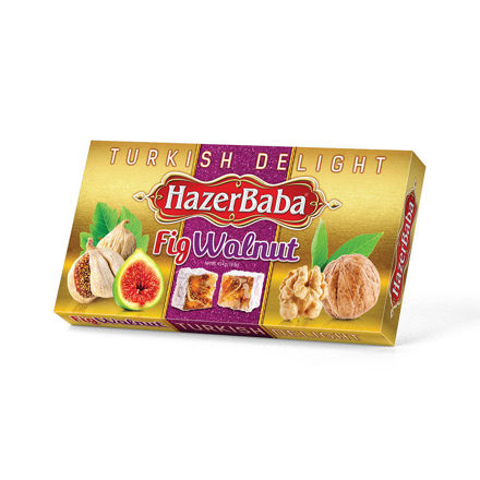 Picture of HAZERBABA Turkish Delight w/ Figs and Walnuts 454g