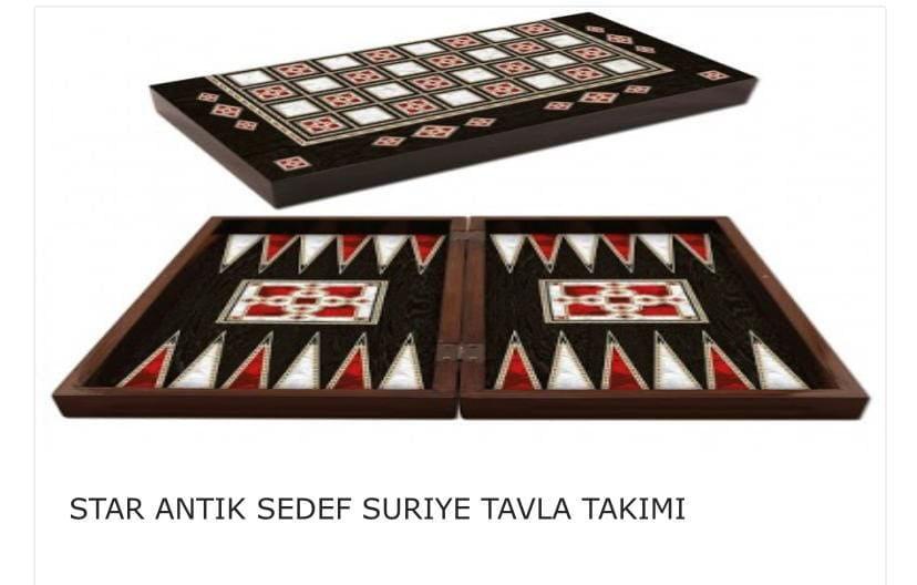 Picture of Star Antik Sedef Kaplama Backgammon